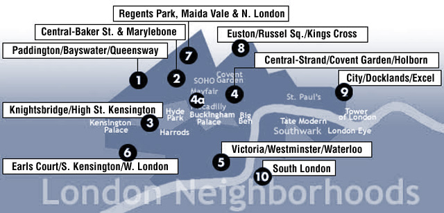 Where to Stay in London. A Visitors Guide to London\'s Neighborhoods